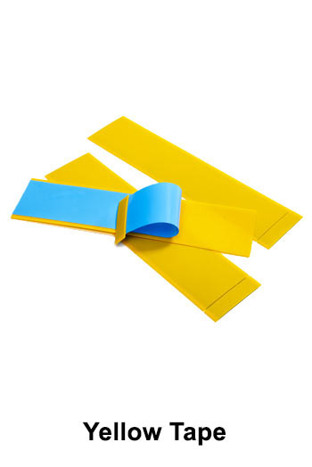 Yellow Tape to enhance visibility